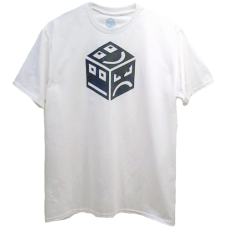 POLY Cube Logo INV - grey/white