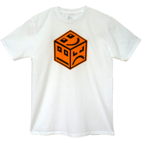 POLY Cube Logo - Orange Black/White
