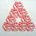 POLY PENROSE - deep red/white